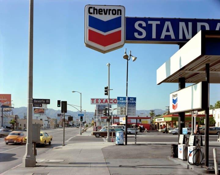 Beverly Boulevard and La Brea Avenue, Los Angeles, California, June 21, 1975.(Shore, S. 1975)