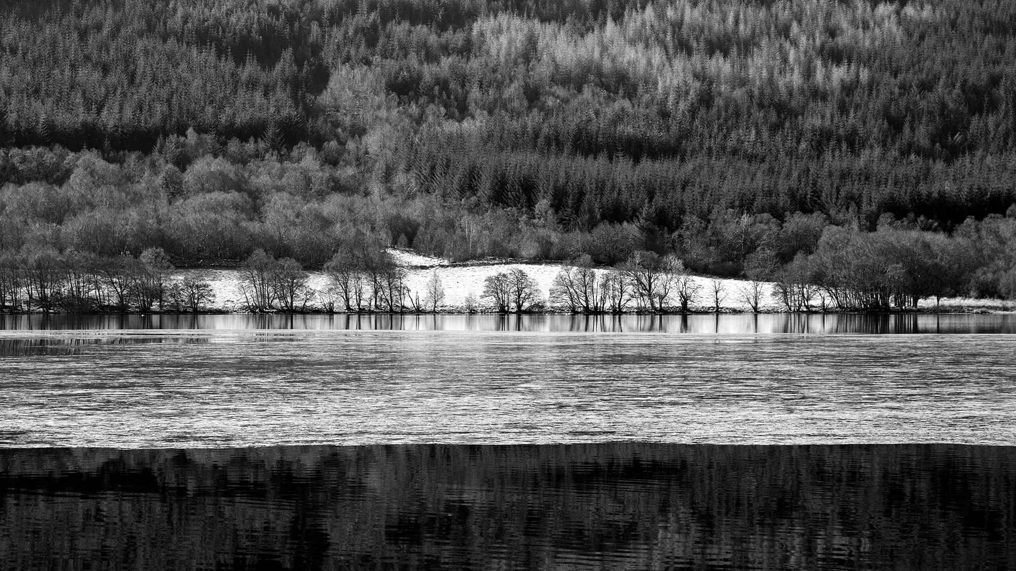 Ice On Loch Meiklie