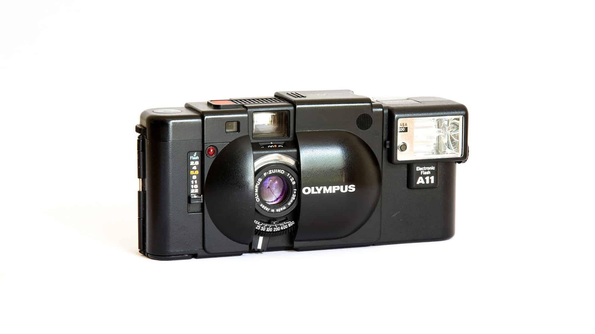 Olympus XA compact 35mm film camera